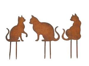 Gartendeko Rost 3 Katzen