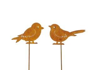 Garten Deko Rost Vögel
