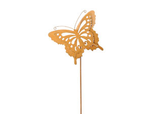 Garten Deko Stab Rost Schmetterling