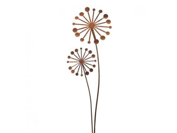 Gartendeko Rost Pusteblume 2er